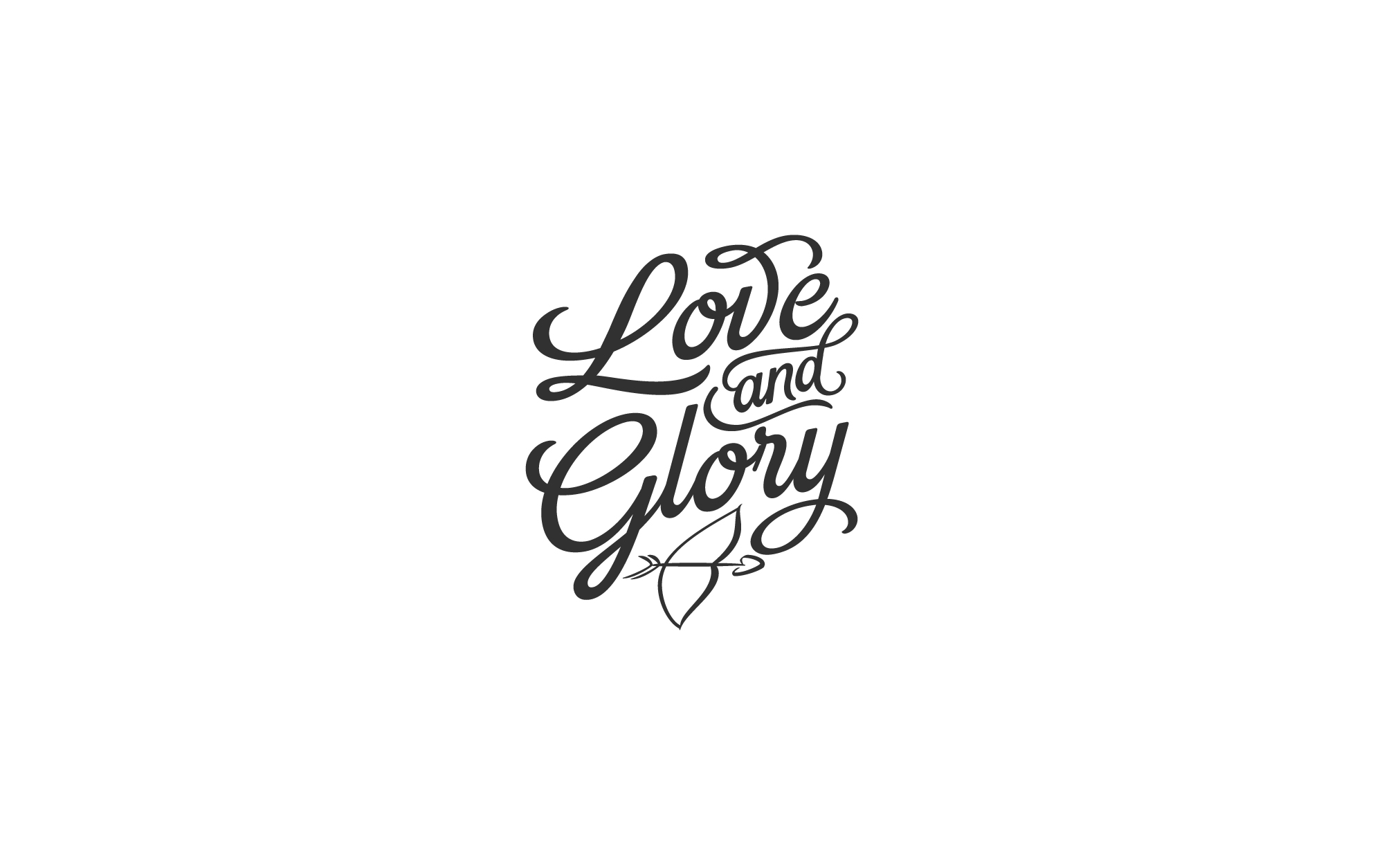 love and glory logo design matthew pomorski